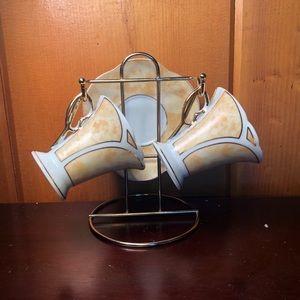 Other - Art Deco Demitasse Set with Rack